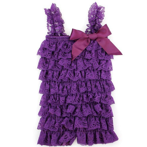 Dark Purple Lace Romper