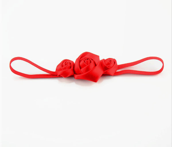 Red Satin Rose Headband