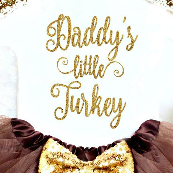 Daddy's Little Turkey Outfit