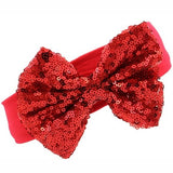 Red Sequin Bow Headband - Minnie Mouse Birthday Outfit