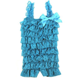 Turquoise Lace Romper