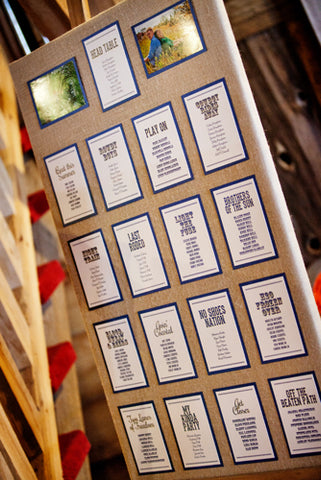 Wedding Stationery - Seating Chart - Barrie & GTA Weddings