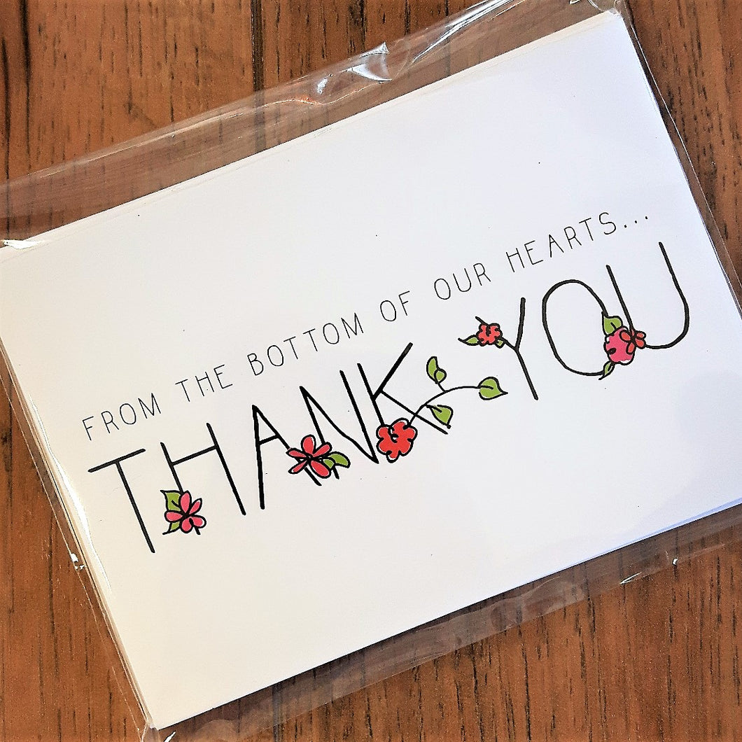 Thank You Cards (Set of 6) - Floral