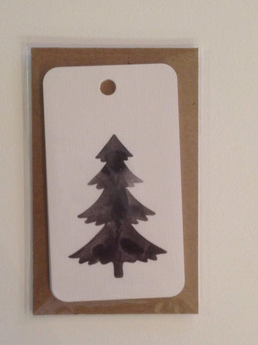 Black & White Tree Gift tags