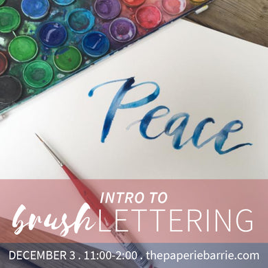 Workshop: Intro to Brush Calligraphy - Sunday December 3 - 11:00am to 2:00pm