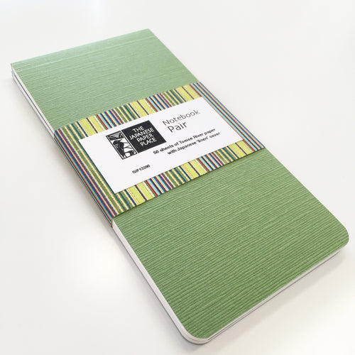 Japanese Linen - Notebook Pair (Green)