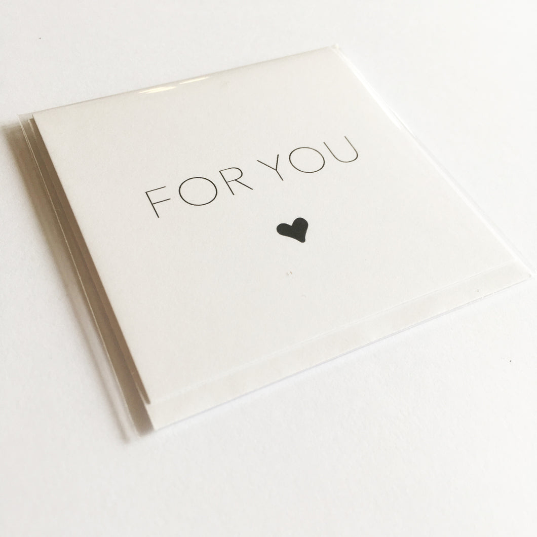 For You (Heart) - Small Card