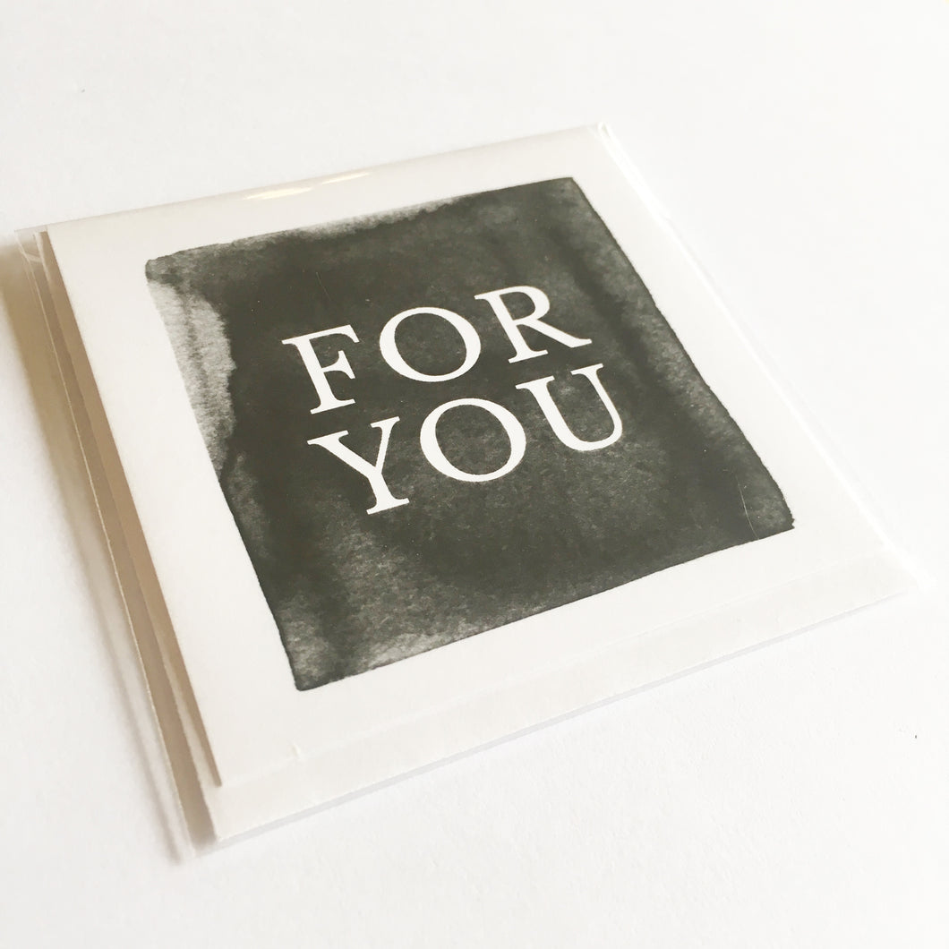 For You (Black) - Small Card