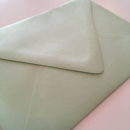 Spearmint A7 Envelope