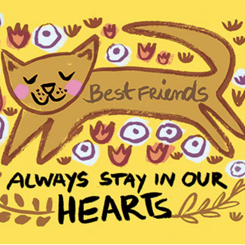 Best Friends Always Stay in our Hearts (Cat)