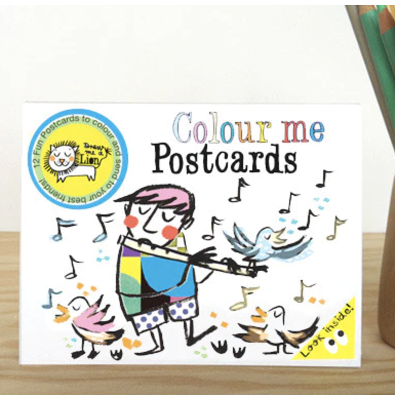 Colouring Postcard Booklet (Music)