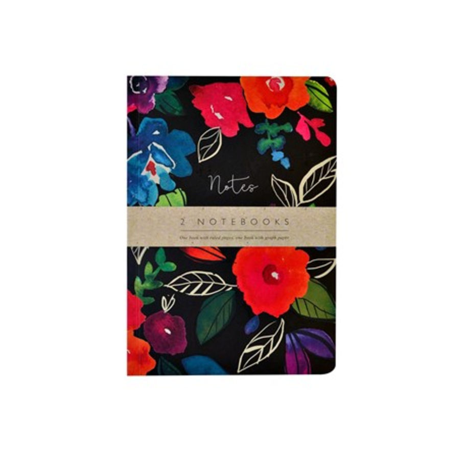 Bold Floral Notebooks (Set of 2)