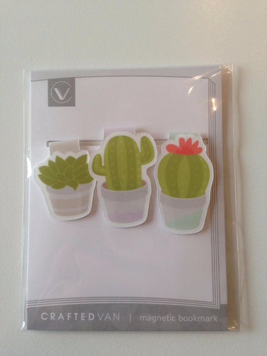 Cactus Magnetic Bookmarks (mini)