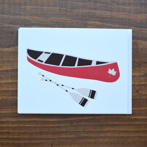 Algonquin Canoe - Greeting Card