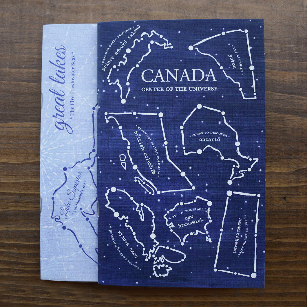 Canadian Constellation & Great Lakes Notebook Set