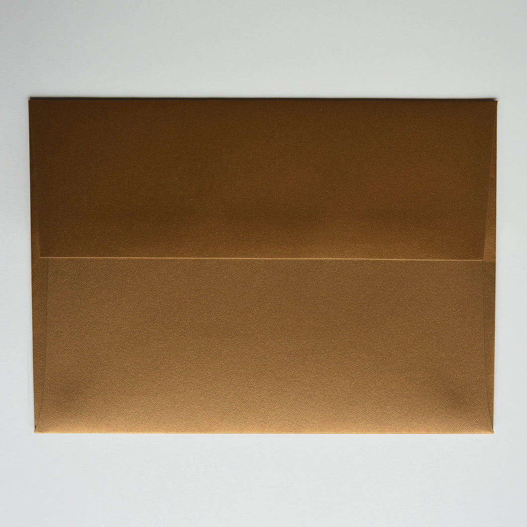 Antique Gold Metallic A1 Envelope
