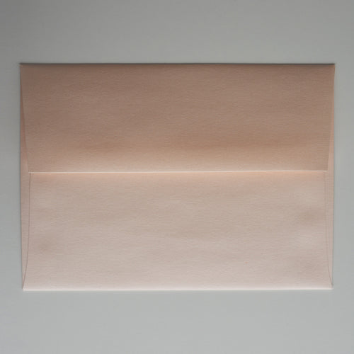 Coral Peach Metallic A1 Envelope
