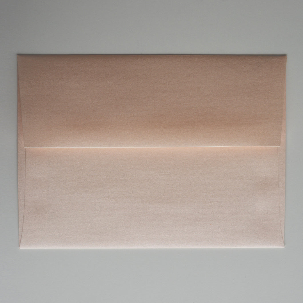 Coral Peach Metallic A7 Envelope