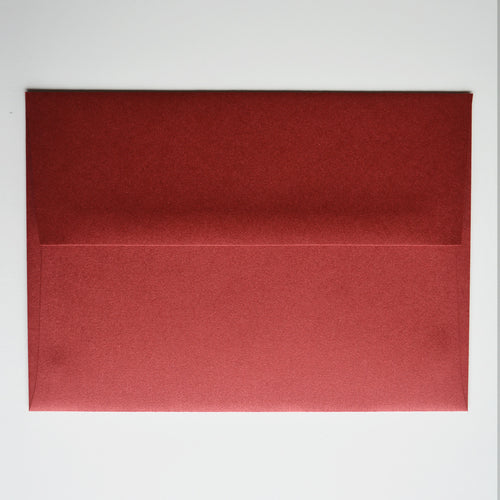 Red Lacquer Metallic A7 Envelope