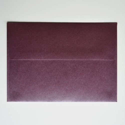 Ruby Burgundy Metallic A1 Envelope