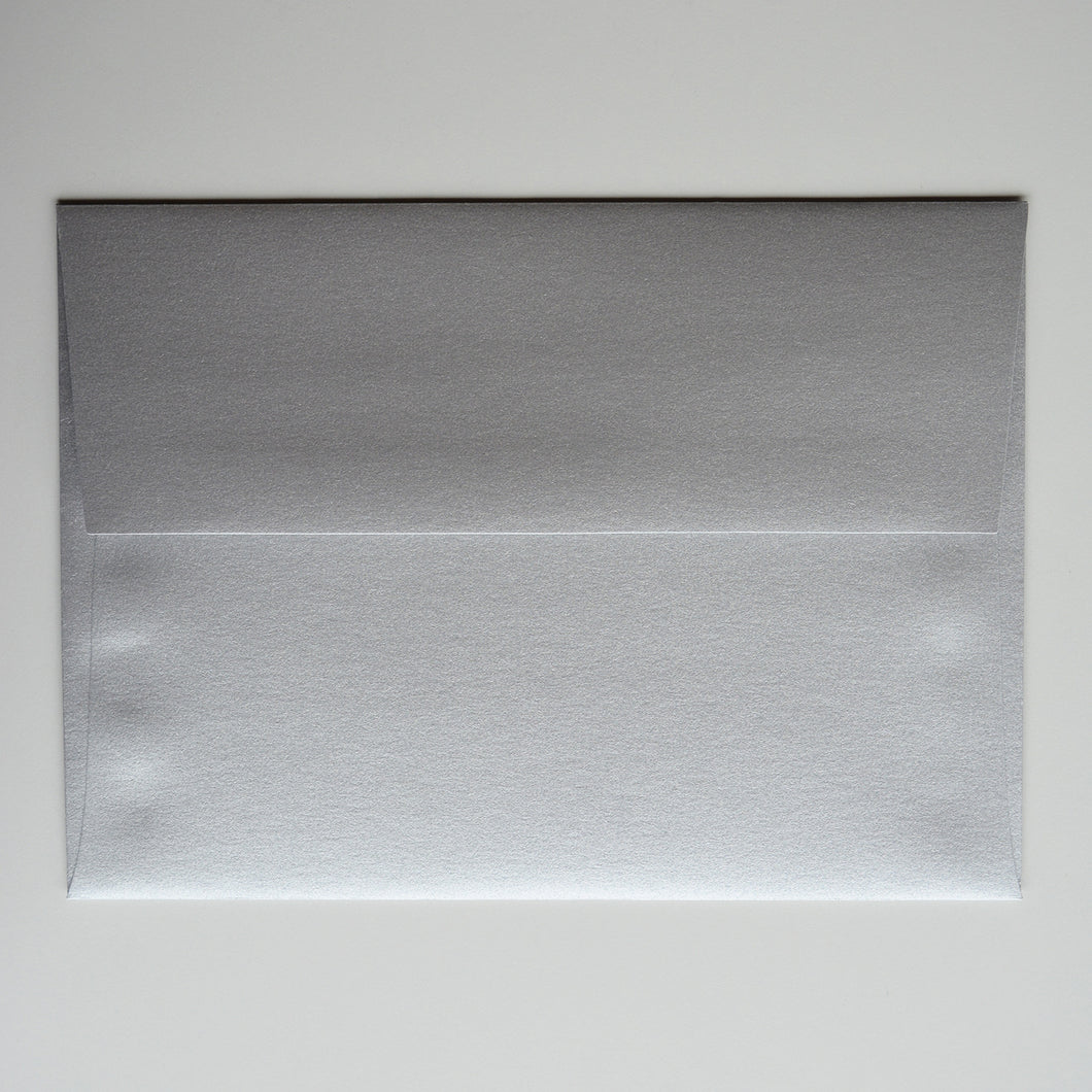 Silver Metallic A1 Envelope