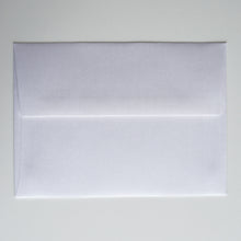 White Shimmer Metallic A7 Envelope