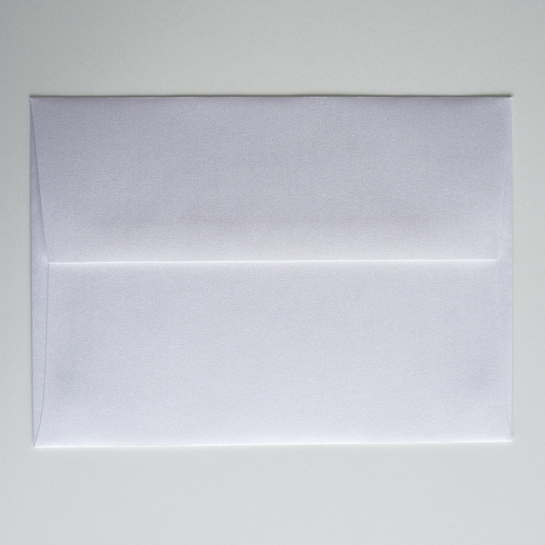 White Shimmer Metallic A1 Envelope