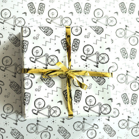 Bikes & Beer Wrapping Paper
