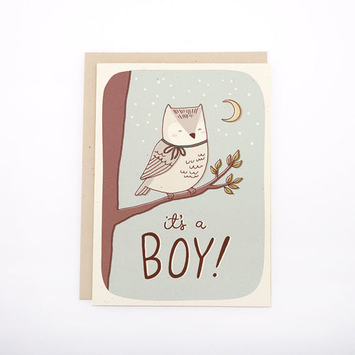 Baby - It's A Boy Owl