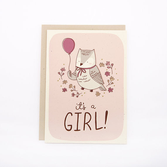 Baby - It's A Girl Owl