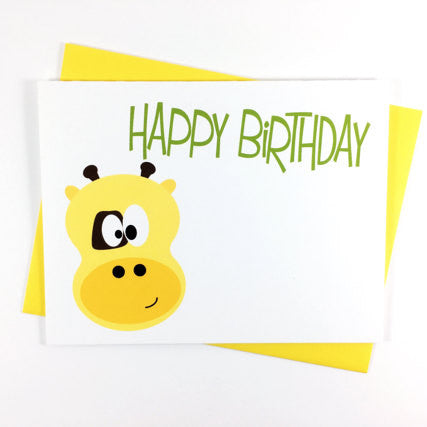 Giraffe - Happy Birthday Card