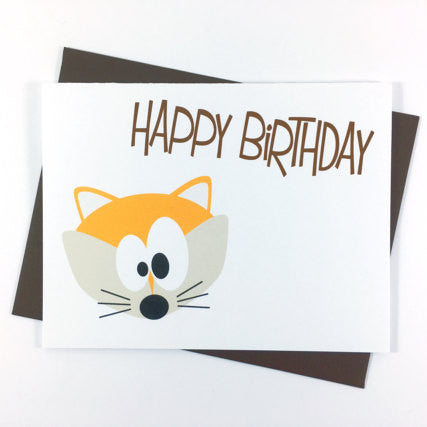Fox - Happy Birthday Card