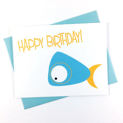 Blue Whale - Happy Birthday Card