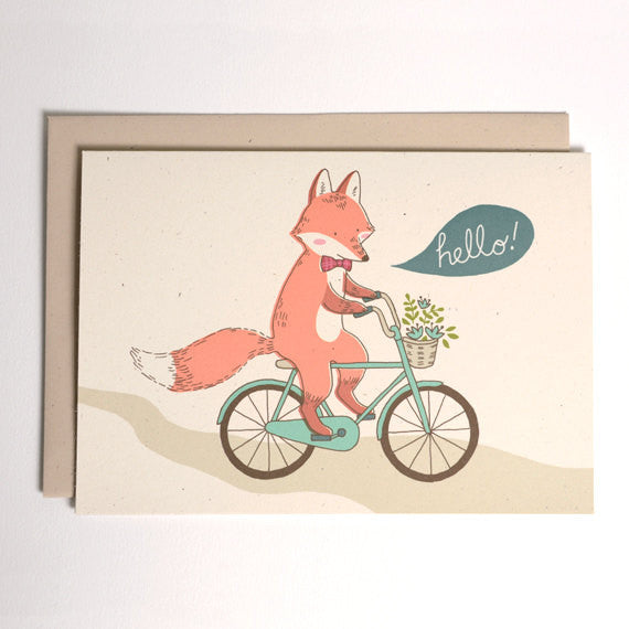 Hello - Fox on a Bike