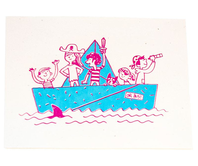 Boat Party - Kids Party Invitation