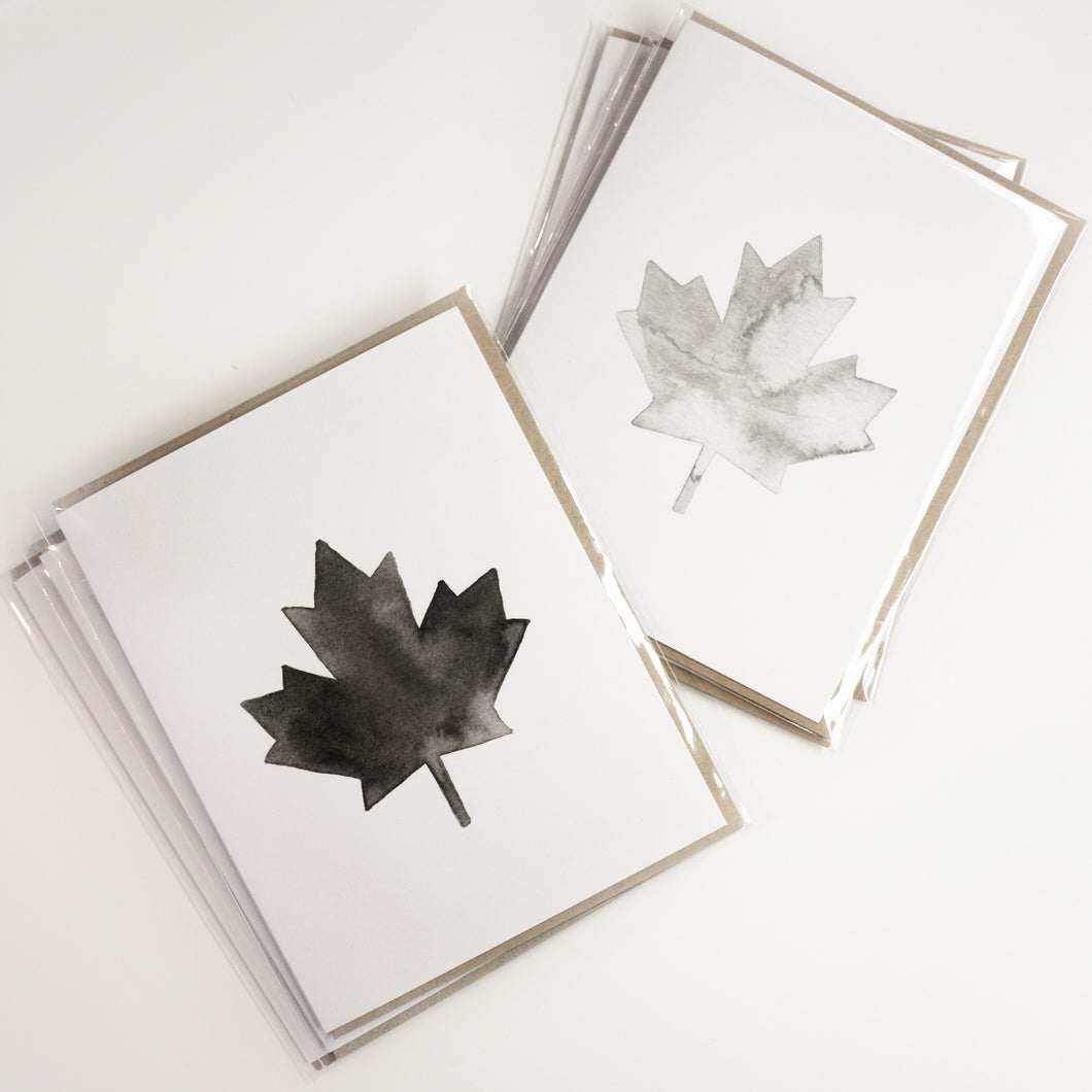 Watercolour Maples - Greeting Card