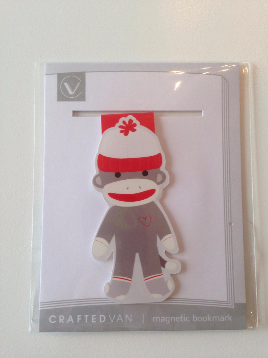 Sock Monkey Magnetic Bookmark (Jumbo)