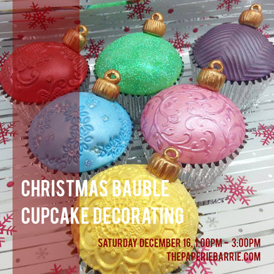 Workshop: Christmas Cupcake Decorating - Saturday December 16 - 1:00pm to 3:00pm