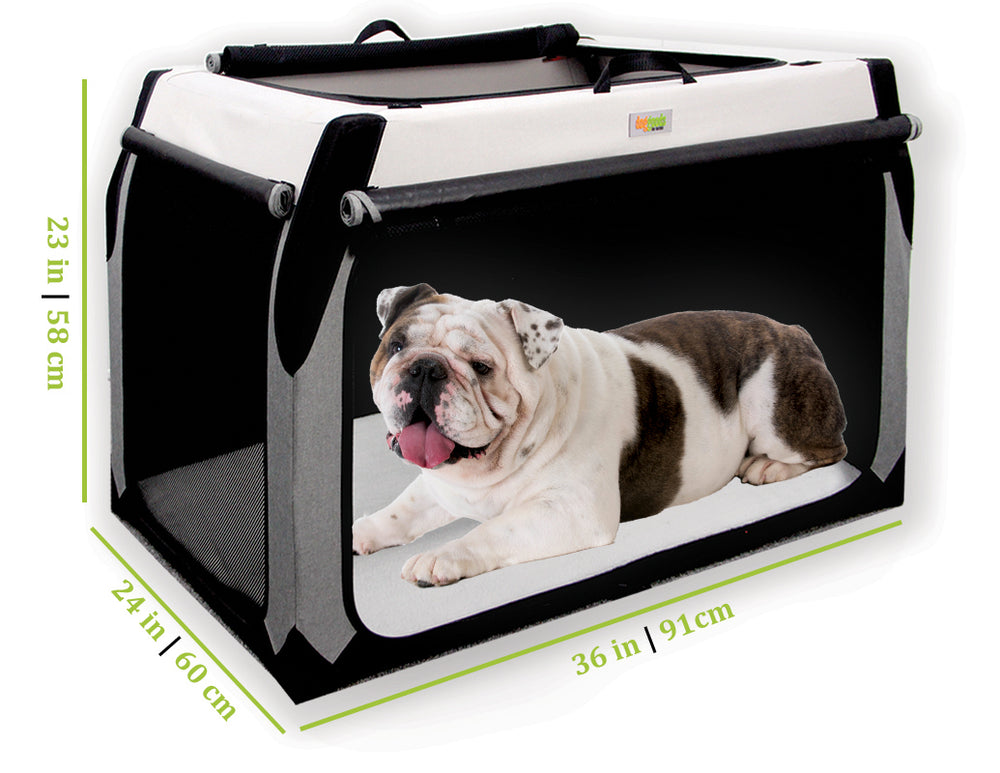 Soft Dog Crate for Alaskan Husky, American Eskimo, Australian Cattle Dog, Basset Hound, Beagle, Belgian Tervuren, Border Collie, Brittany Spaniel, Bulldog, English Bulldog, Bull Terrier, Chinese Shar-Pei, Chow-Chow, Clumber Spaniel, English Setter, English Springer Spaniel, Finnish Spitz, Norwegian Elkhound