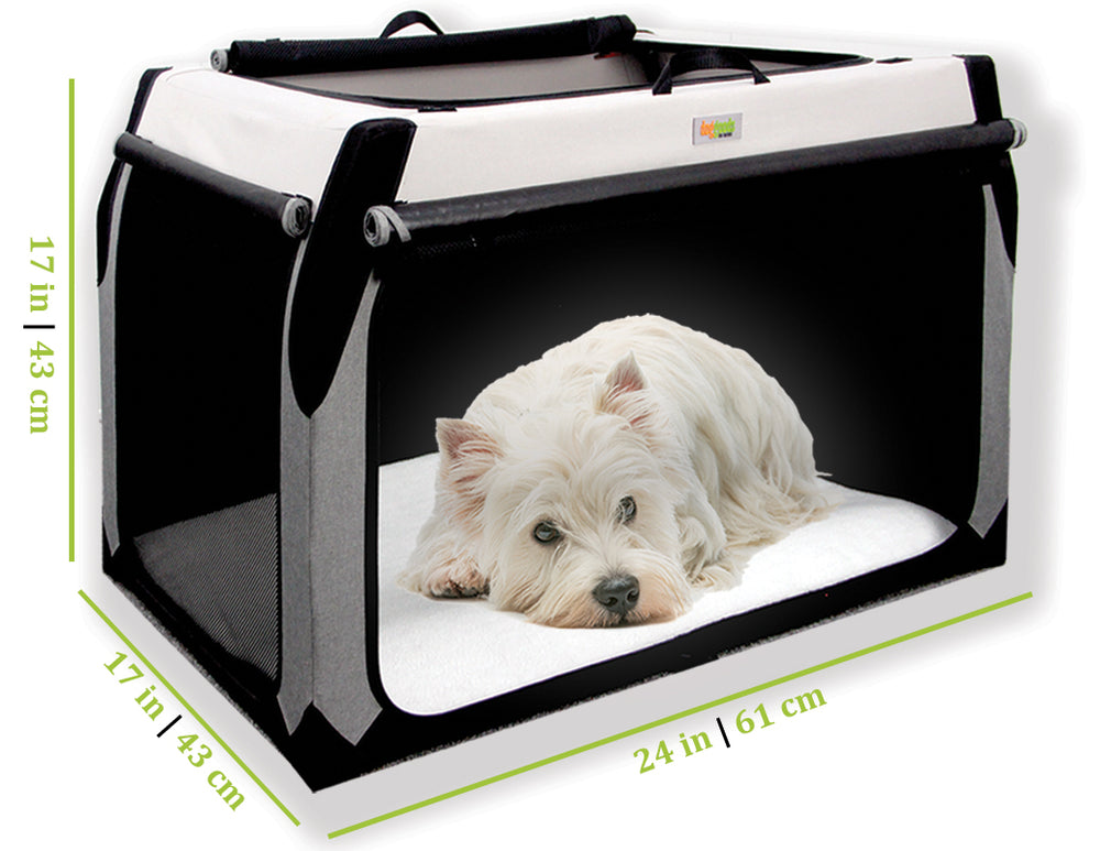 Soft Dog Crate for Terrier, Affenpinscher, Beagle, Bichon Frise, Boston Terrier, Brussels Griffon, Cavalier King Charles Spaniel, Chihuahua Chinese Crested, Cocker Spaniel, Dachshund, French Bulldog, Havanese, Lhasa Apso, Maltese, Mini Pinscher, Mini Poodle ,Mini Schnauzer, Papillon, Pekingese, Pomeranian, Pug, Shih Tzu, Welsh Corgi