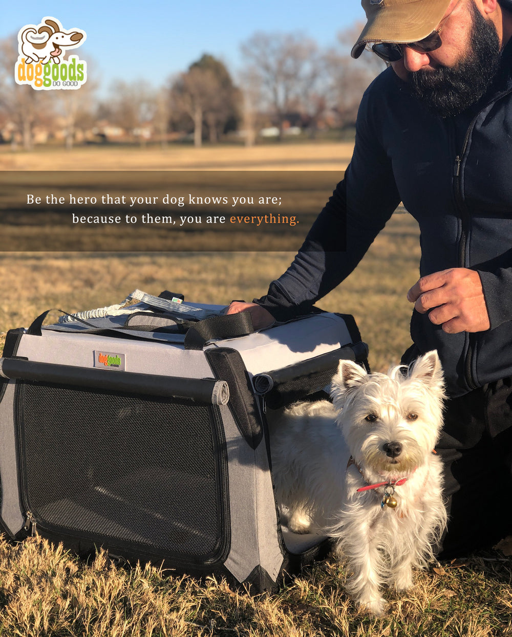 The Foldable Travel Dog Crate By DogGoods ®