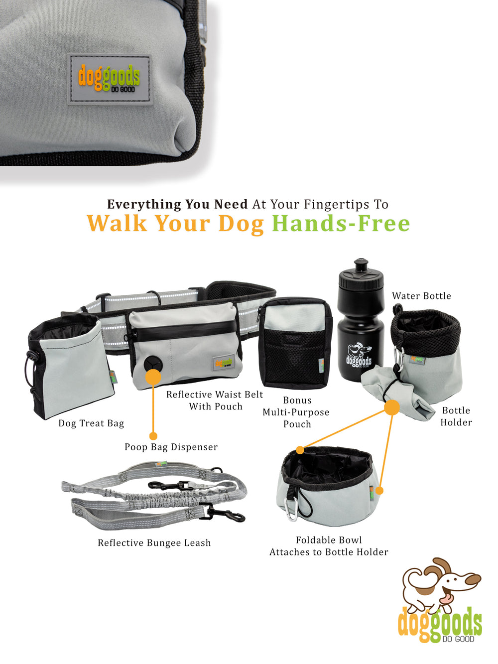 The Everything Leash + Fanny Pack by DogGoods ®