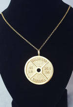 Gold Weight Plate Pendant