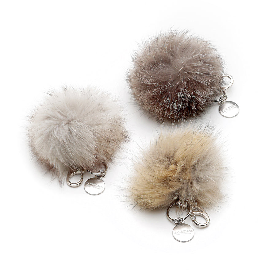 POMPOM KEYCHAIN WITH UPCYCLED FUR