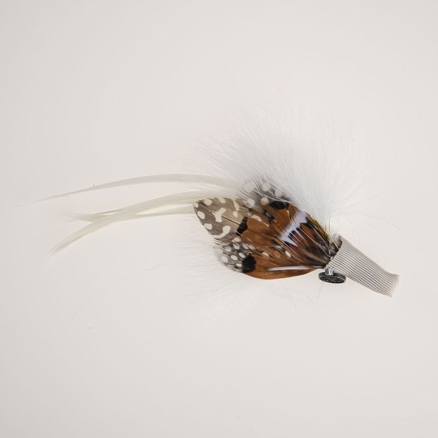 WHITE FEATHER ON CLIP