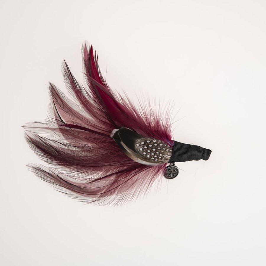 BERRY FEATHER ON CLIP
