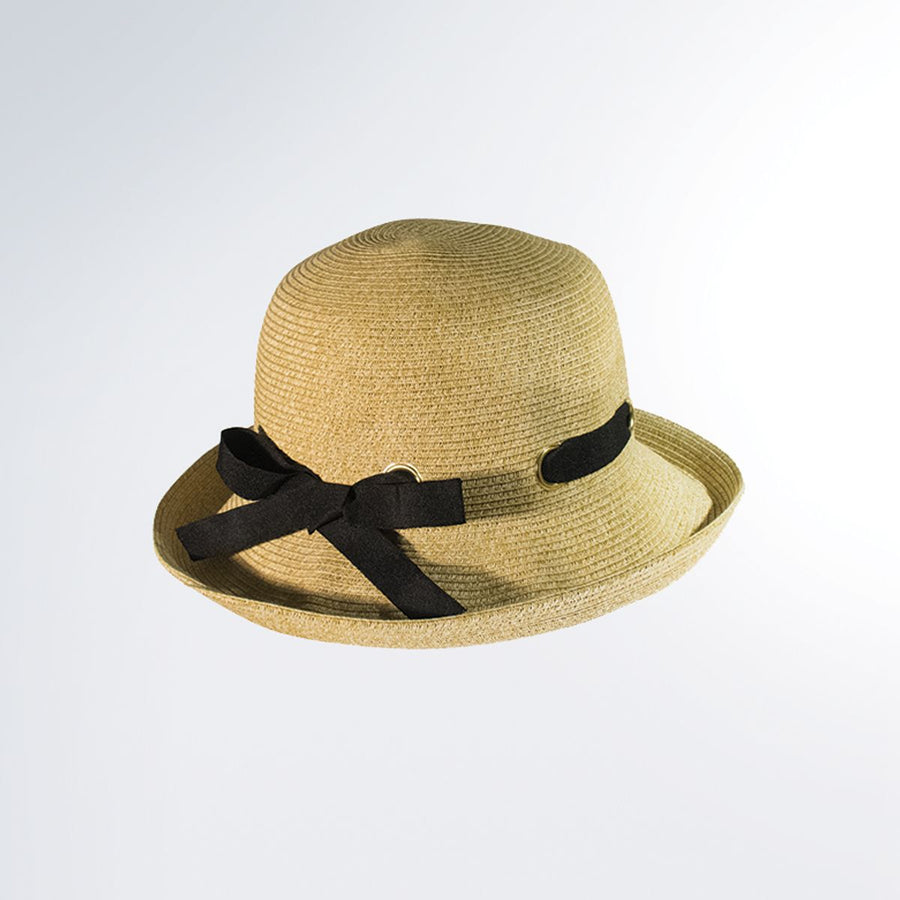 CANADIAN HAT WOMEN BETTE CLOCHE IN PAPER STRAW in 2500 NATURAL MIX, O/S