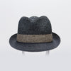 CANADIAN HAT MEN FELIX FEDORA IN PAPER STRAW in 9000 NAVY MIX, O/S