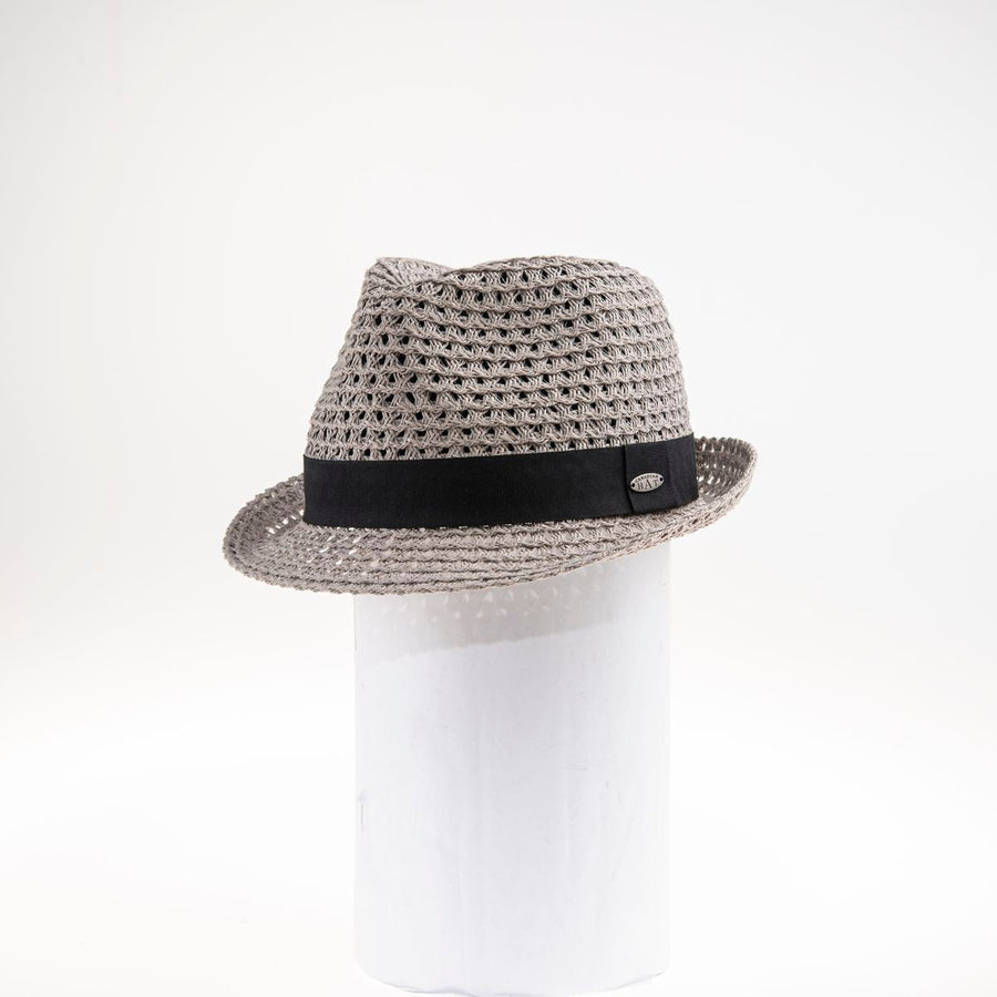 CANADIAN HAT WOMEN'S FASHION DUKESI FEDORA IN PAPER STRAW  4421 NATURAL-BLACK O/S