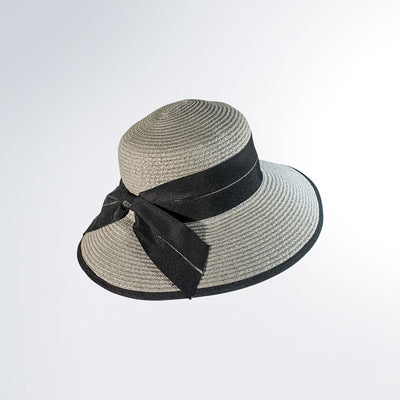 DUKESIA CLOCHE IN PAPER STRAW GOLF  7921 GREY-BLACK O/S
